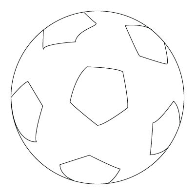 Football Ball Drawing.